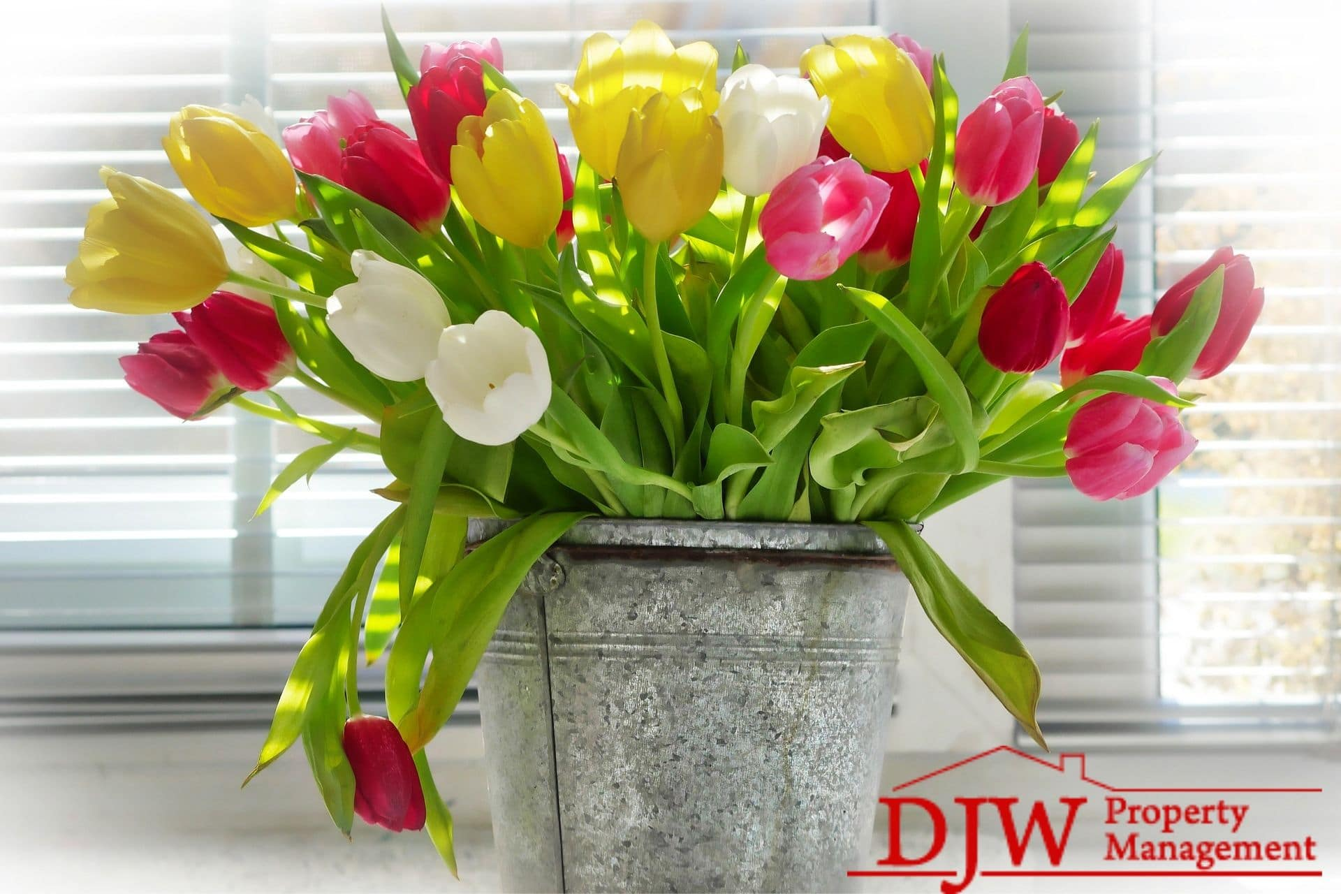 Beautiful vase of flowers, perfect for displaying after spring cleaning.