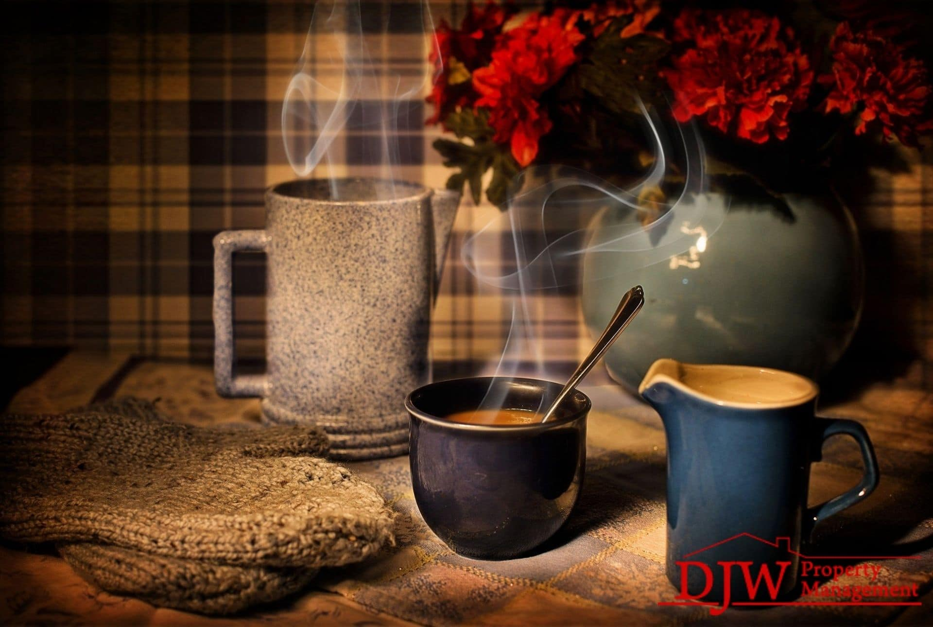 Hot coffee gives a cozy feel to a cold day in your home.
